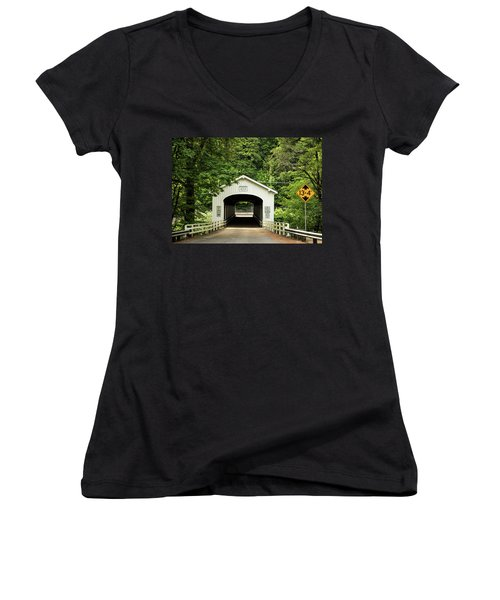 Goodpasture Covered Bridge Women's V-Neck