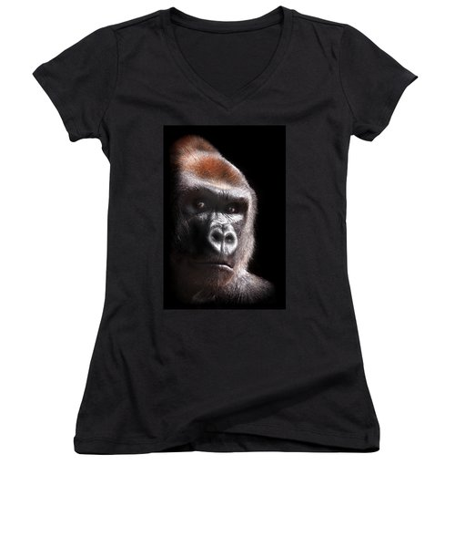 Gorilla ... Kouillou Women's V-Neck (Athletic Fit)