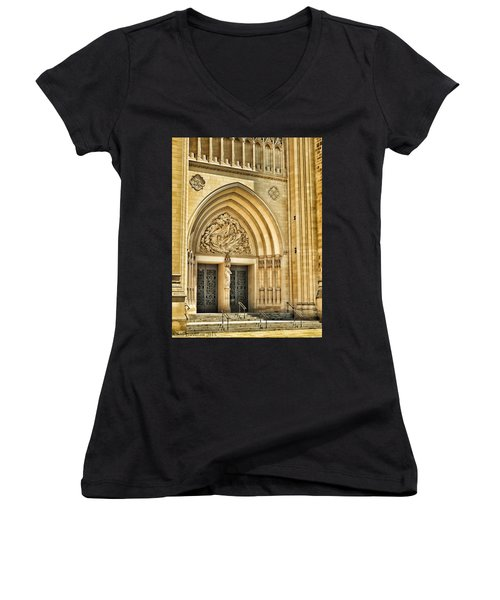 Gothic Entry Women's V-Neck T-Shirt