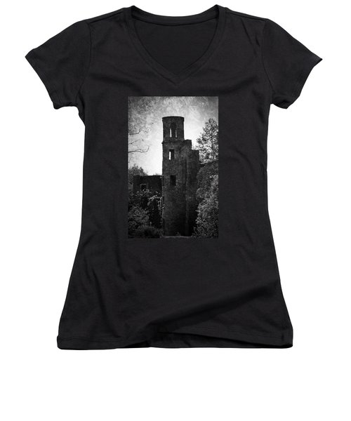 Gothic Tower At Blarney Castle Ireland Women's V-Neck