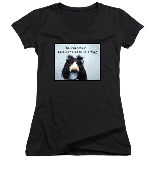 Gotta Love Em Women's V-Neck T-Shirt (Junior Cut) by Irma BACKELANT GALLERIES