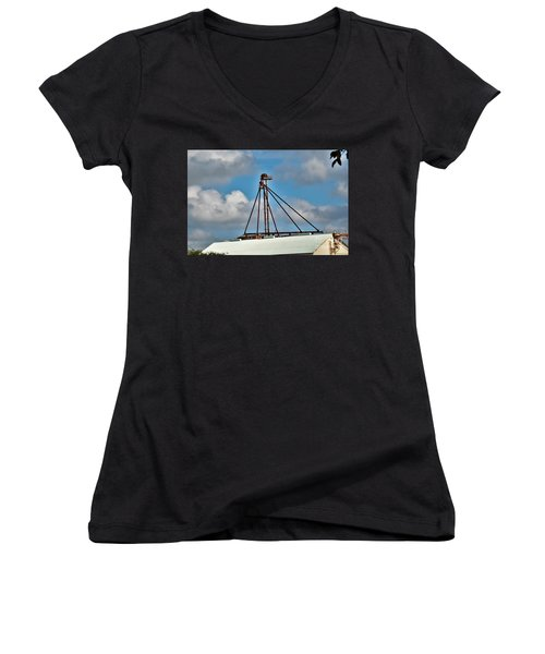 Women's V-Neck T-Shirt (Junior Cut) featuring the photograph Grain Is Life ...  by Ray Shrewsberry