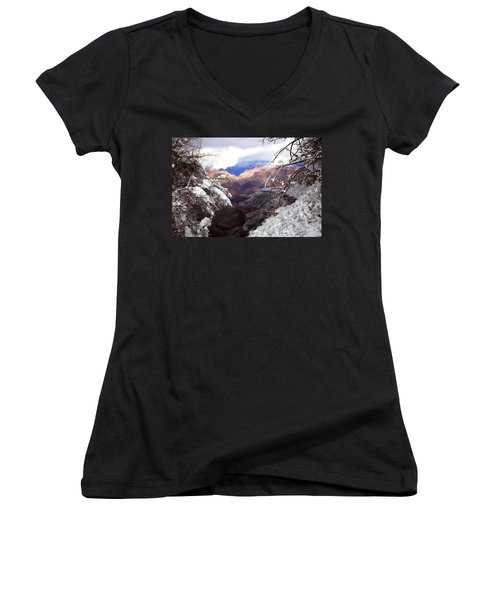 Grand Canyon Branch Women's V-Neck (Athletic Fit)