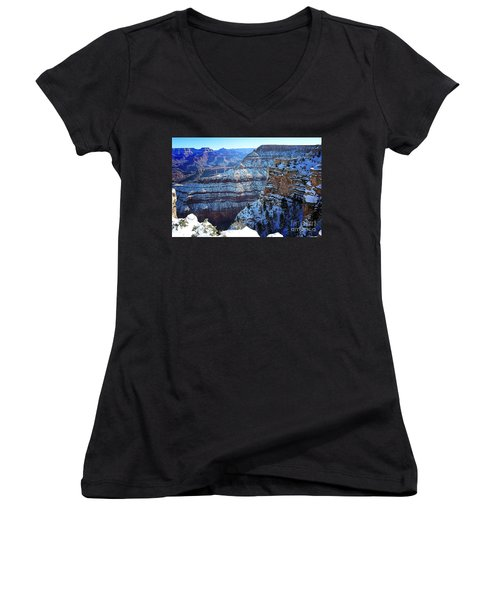 Grand Canyon National Park In Winter Women's V-Neck