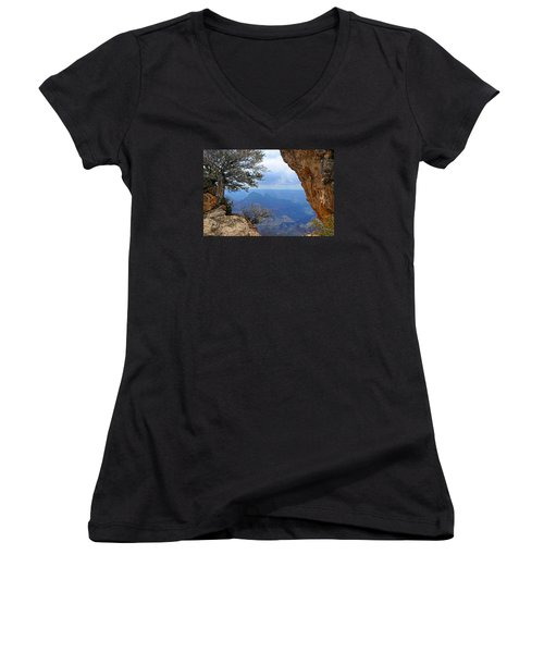 Grand Canyon North Rim Window In The Rock Women's V-Neck