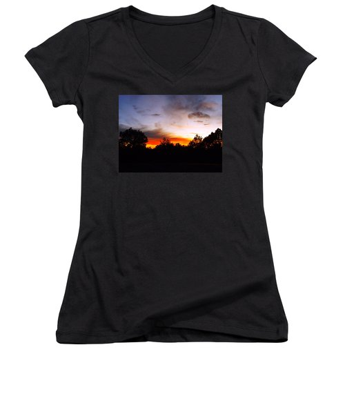 Grand Canyon Sunset Women's V-Neck (Athletic Fit)