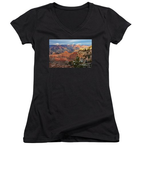 Grand Canyon View Women's V-Neck (Athletic Fit)