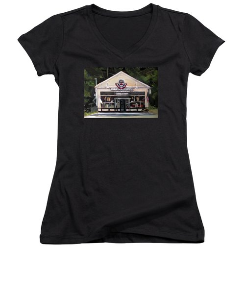 Granville Country Store Front View Women's V-Neck