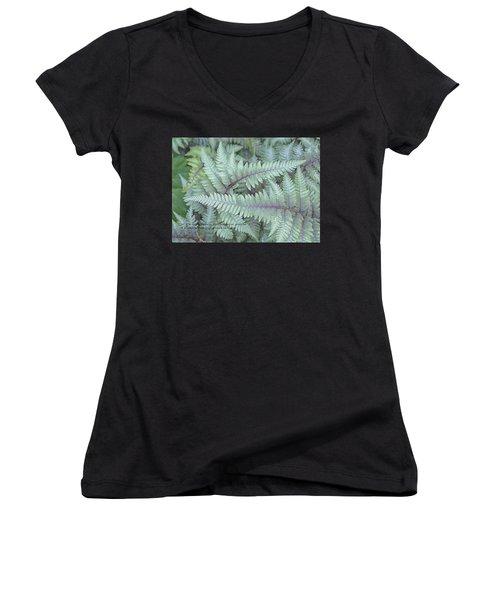 Grateful Women's V-Neck T-Shirt (Junior Cut) by Catherine Alfidi