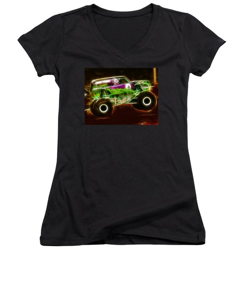 Grave Digger Monster Truck Women's V-Neck T-Shirt