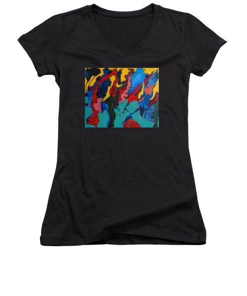 Gravity Prevails Women's V-Neck T-Shirt (Junior Cut) by Bernard Goodman