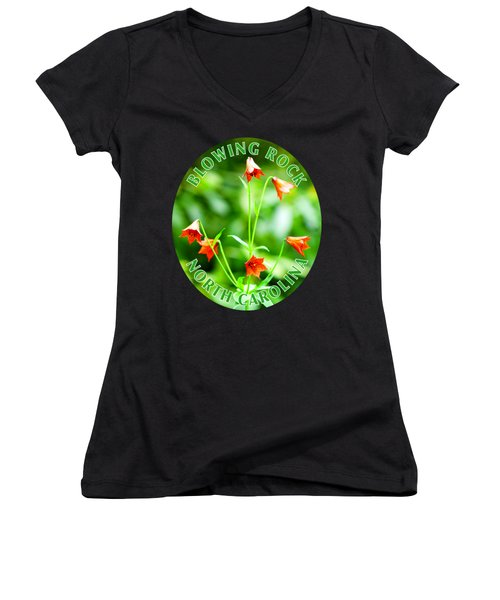Grays Lily T-shirt Women's V-Neck (Athletic Fit)