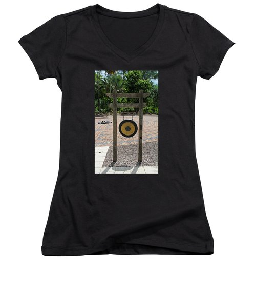 Women's V-Neck T-Shirt featuring the photograph Great Antiquity by Michiale Schneider