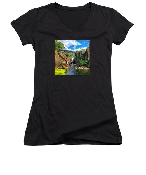 Great Falls In Paterson Women's V-Neck (Athletic Fit)