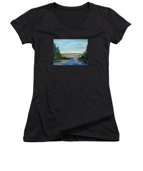 Great Lake Beyond Women's V-Neck T-Shirt