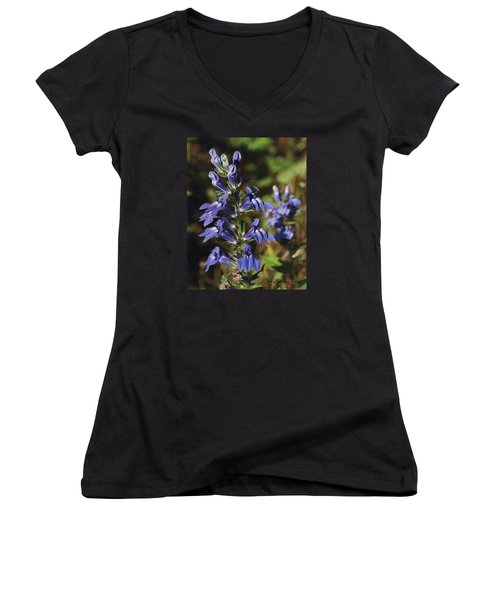 Great Lobelia Blues Women's V-Neck (Athletic Fit)