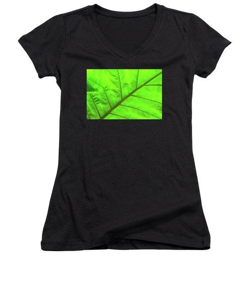 Green Abstract No. 5 Women's V-Neck