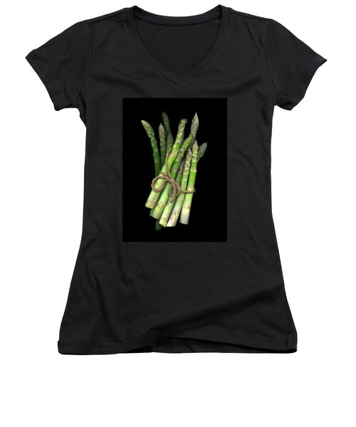 Green Asparagus Women's V-Neck (Athletic Fit)