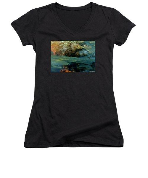 Green Fog Women's V-Neck T-Shirt