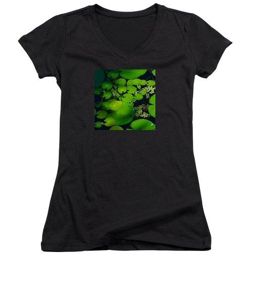 Green Islands Women's V-Neck T-Shirt (Junior Cut)