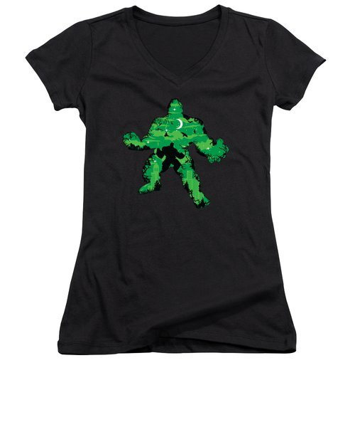 Green Monster Women's V-Neck (Athletic Fit)
