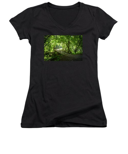 Green Nature Bridge Women's V-Neck