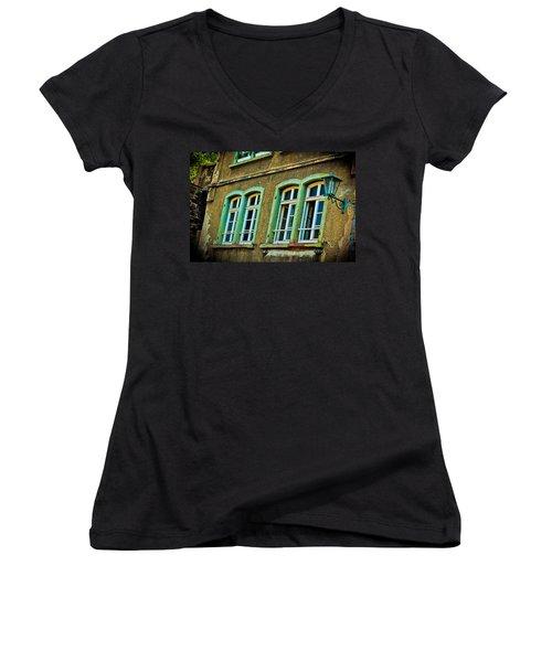 Green Windows Women's V-Neck (Athletic Fit)