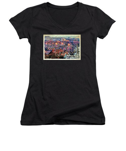 Greetings From Grand Canyon National Park Women's V-Neck (Athletic Fit)