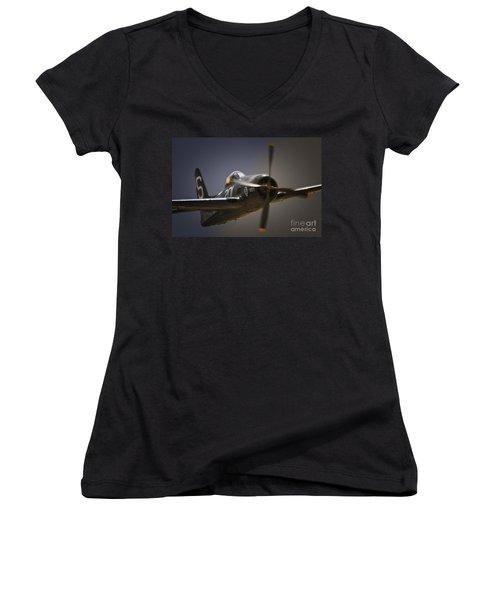 Grumman F8f Bearcat No. 201 Women's V-Neck T-Shirt