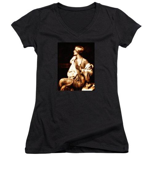 Grunge Goddess Women's V-Neck (Athletic Fit)