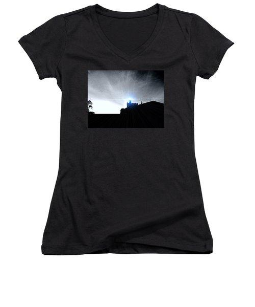 Guiding Light-alcatraz Women's V-Neck T-Shirt