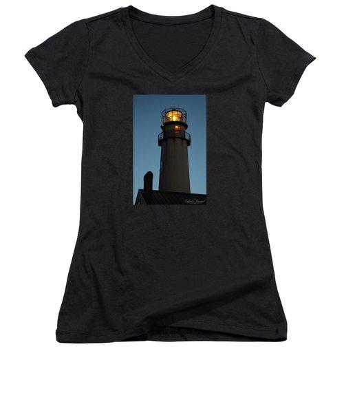 Guiding Mariners Women's V-Neck T-Shirt (Junior Cut) by Robert Banach