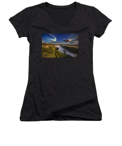 Gullfoss Iceland Women's V-Neck T-Shirt