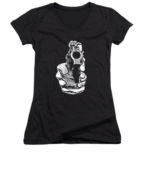 Gunman T-shirt Women's V-Neck