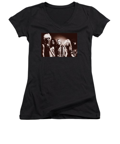 Guns N' Roses - Band Portrait 02 Women's V-Neck