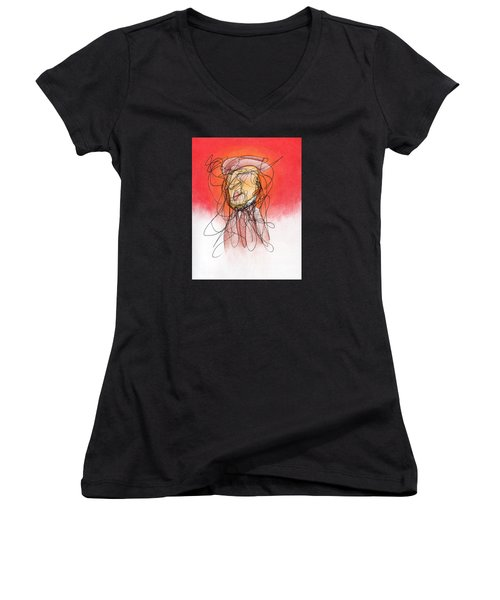 Gusts, Dust, The Sun... Women's V-Neck T-Shirt (Junior Cut) by Ismael Cavazos