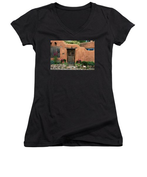 Hacienda Santa Fe Women's V-Neck (Athletic Fit)