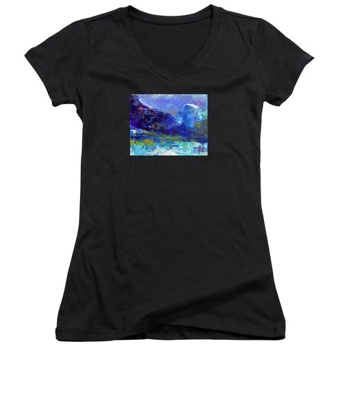 Half Dome Winter Women's V-Neck (Athletic Fit)