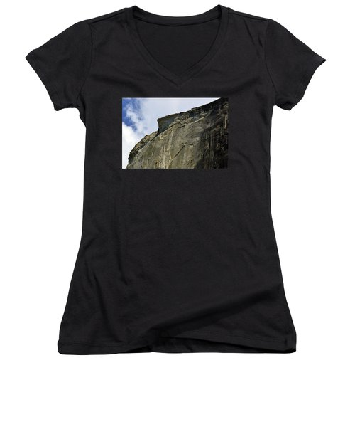 Half Dome With A View Of The Visor  Women's V-Neck (Athletic Fit)