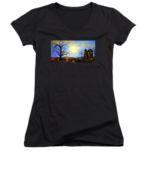 Halloween Night Two Women's V-Neck T-Shirt