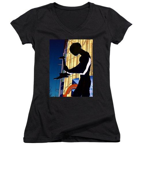 Hammering Man Women's V-Neck T-Shirt