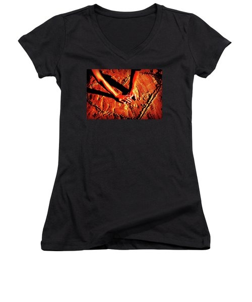 Hands In Love Women's V-Neck (Athletic Fit)