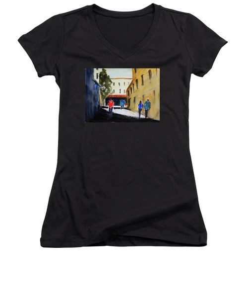 Hang Ah Alley2 Women's V-Neck T-Shirt