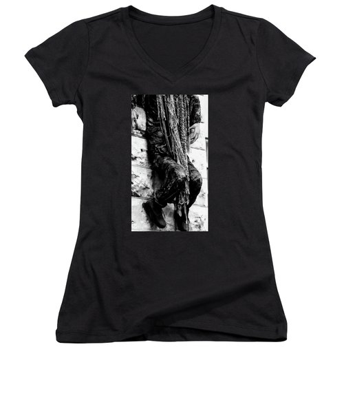 Hanging Around Women's V-Neck (Athletic Fit)