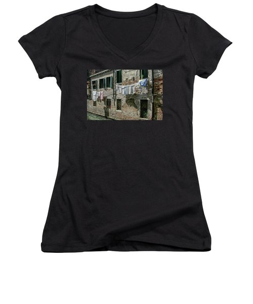 Hanging Out The Flags Women's V-Neck