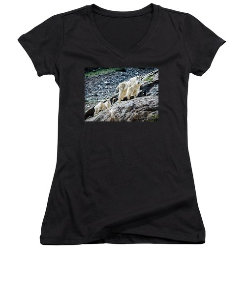 Hanging With The Kids Women's V-Neck