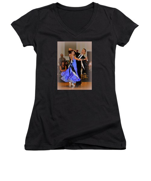 Happy Dancing Women's V-Neck (Athletic Fit)
