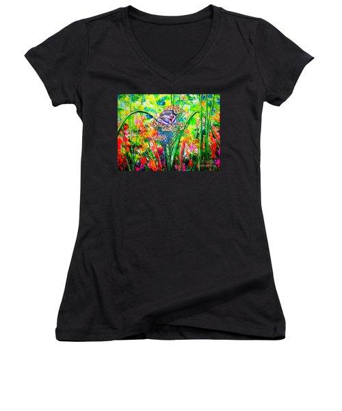 Happy Hamster Women's V-Neck T-Shirt