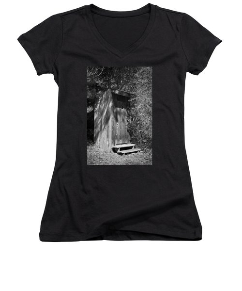 Happy Hollow Outhouse Women's V-Neck