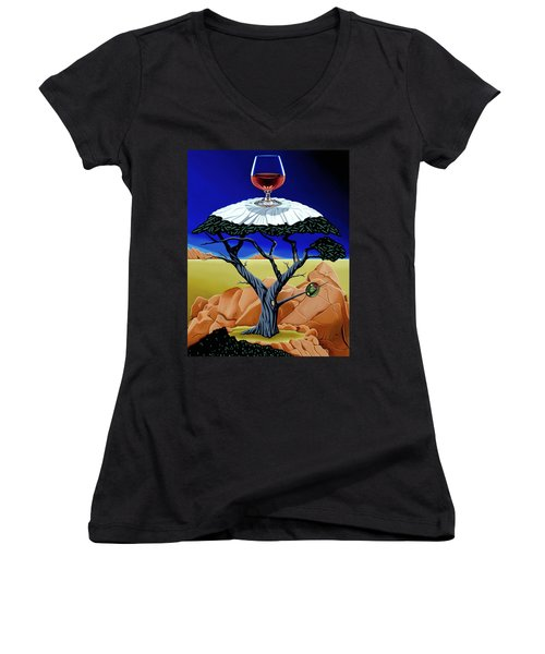 Happy Hour At The Midreal Cypress Women's V-Neck (Athletic Fit)